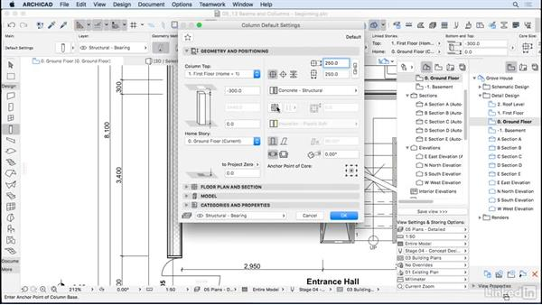 Columns and beams: ArchiCAD Essential Training