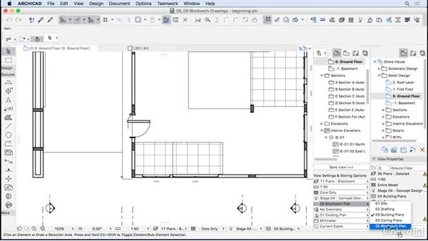 Blockwork drawings: ArchiCAD Essential Training