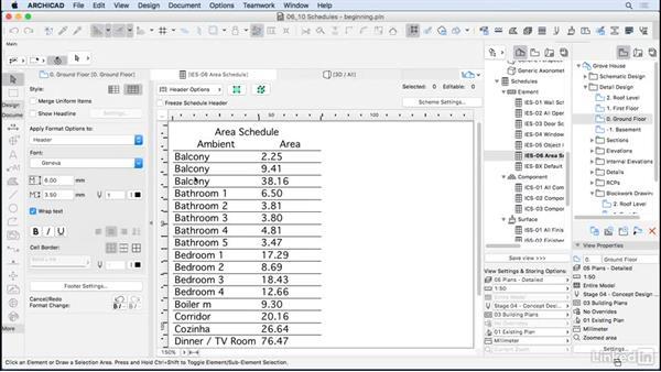 Schedules: ArchiCAD Essential Training