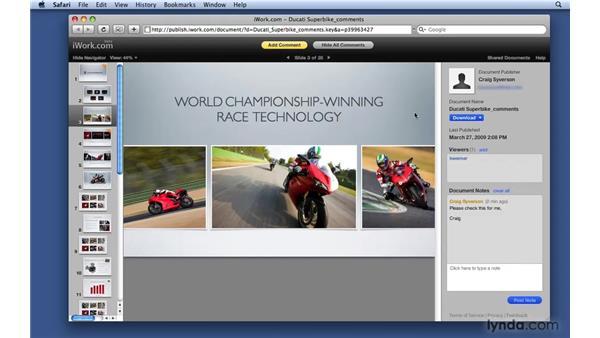 Collaborating with iWork.com: Keynote '09 Essential Training