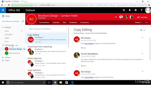 The connection between Planner and Outlook: Microsoft Planner: First Look