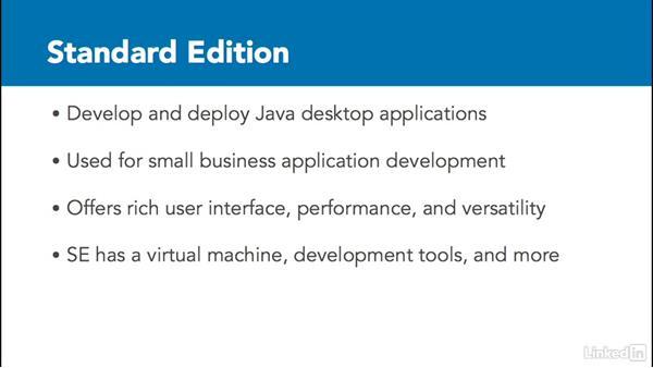 Java Platform, Standard Edition: Java Platforms Compared: SE vs EE vs ME