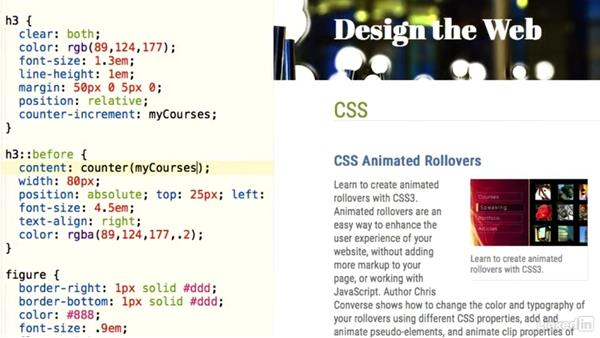 Introduction: Design the Web: Using Counters and Resets in CSS