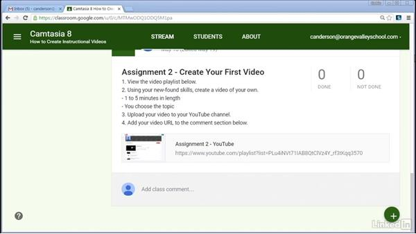 Creating a weekly overview: How to Create Instructional Videos in Camtasia
