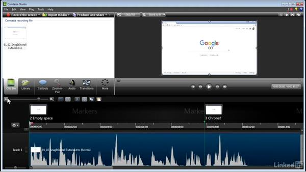 Making a quick edit: How to Create Instructional Videos in Camtasia