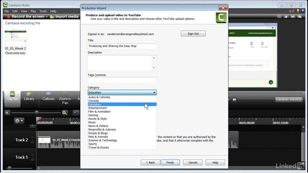 Producing and sharing the easy way: How to Create Instructional Videos in Camtasia