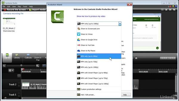 Exporting an MP4 video: How to Create Instructional Videos in Camtasia