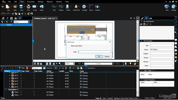 Creating layers: Bluebeam: Draw Layouts & Detail