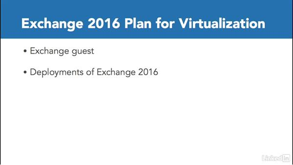 Plan for virtualization requirements and scenarios: Deploying Exchange Server 2016