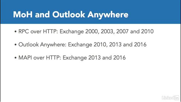 Plan for MAPI over HTTP and Outlook Anywhere: Deploying Exchange Server 2016