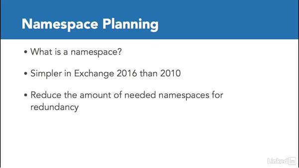 Plan the namespace model: Deploying Exchange Server 2016