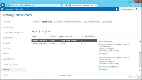 Manual database cluster failover: Deploying Exchange Server 2016