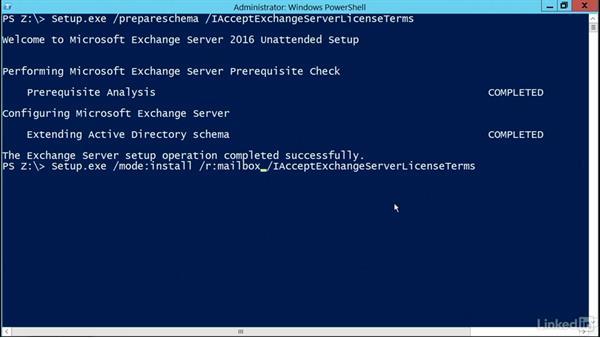 Installing roles through CLI: Deploying Exchange Server 2016