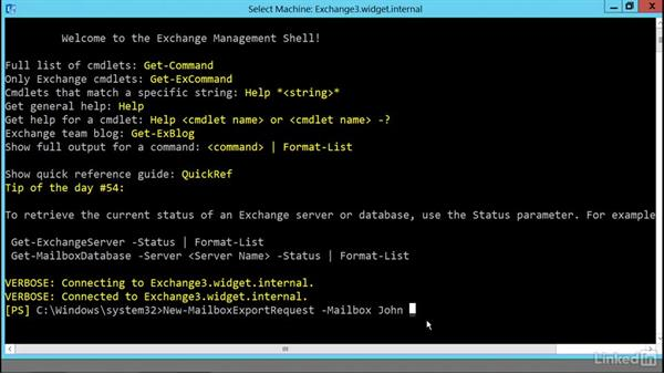 Export mailboxes to PST files: Deploying Exchange Server 2016