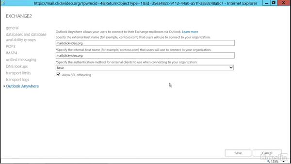 Set up MAPI over HTTP and Outlook Anywhere: Deploying Exchange Server 2016