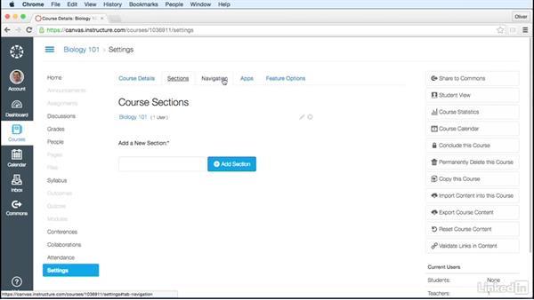 Customize course settings: Learn Canvas 2016