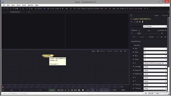 Importing project footage: Creating Motion Graphics with Fusion