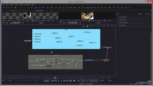 Adding an underlay to organize the flow: Creating Motion Graphics with Fusion