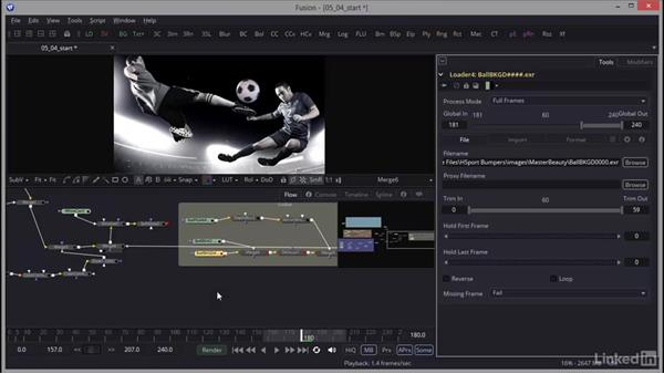 Creating a custom transition: Creating Motion Graphics with Fusion