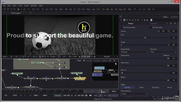 Creating text: Creating Motion Graphics with Fusion