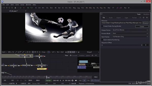 Rendering the final composite: Creating Motion Graphics with Fusion
