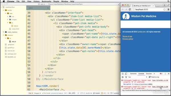 Using complex data: Building a Web Interface with React.js