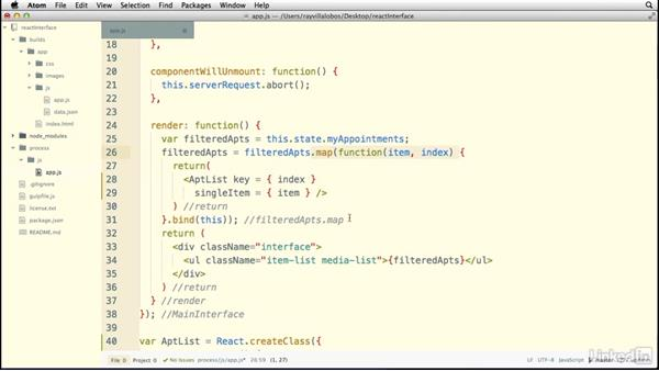 Using subcomponents: Building a Web Interface with React.js
