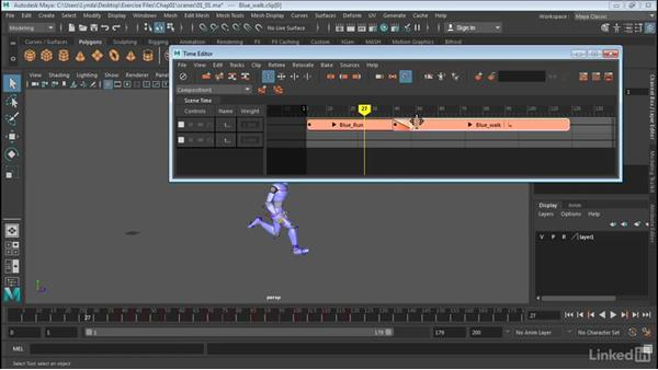 Overview of the Time Editor interface: Maya: Time Editor