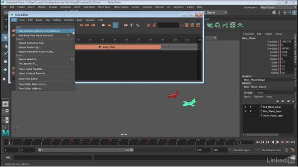 Create motion clips: Maya: Time Editor