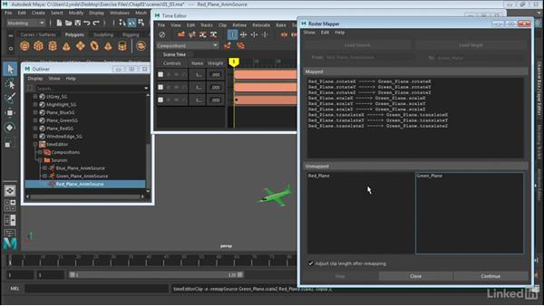 Remap motion data: Maya: Time Editor