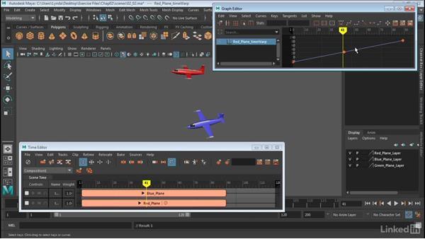 Retime clips: Maya: Time Editor