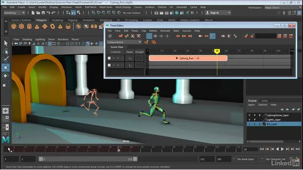 Ghosting clips: Maya: Time Editor