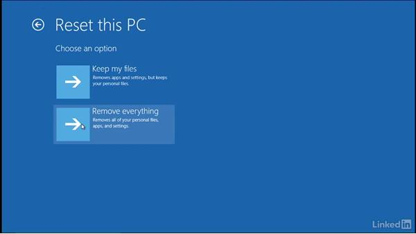 Windows refresh on boot: Windows 10: Manage Updates and Recovery