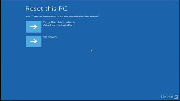 Windows reset on boot: Windows 10: Manage Updates and Recovery