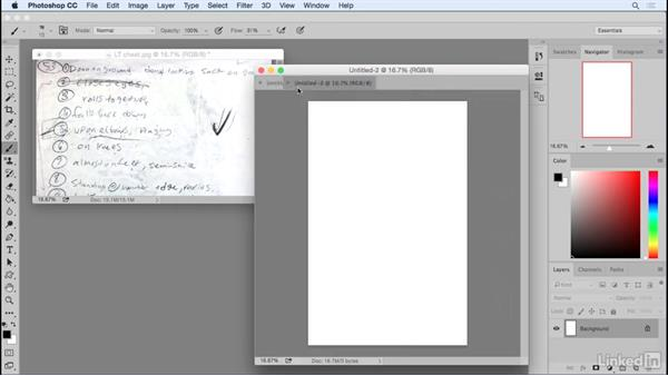 Preparing your workspace in Adobe Photoshop: Penciling a Comic Book Page