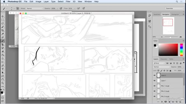 Refining the rough: Penciling a Comic Book Page