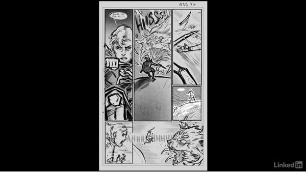 Finalizing your page: Penciling a Comic Book Page