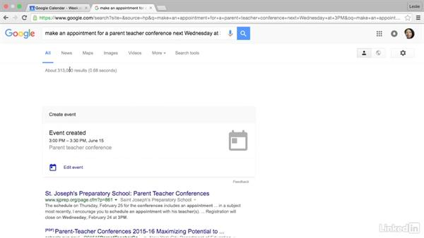 Create an event with the Google search bar: Google Calendar Advanced Tips and Tricks