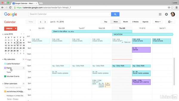 Change calendar colors: Google Calendar Advanced Tips and Tricks