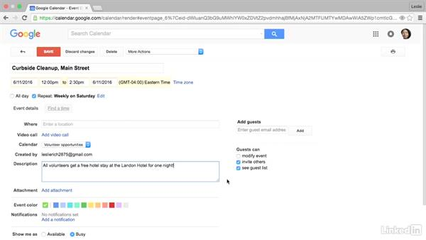 Work with existing events: Google Calendar Advanced Tips and Tricks