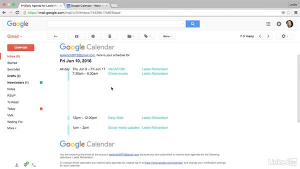 Get a daily digest sent to Gmail: Google Calendar Advanced Tips and Tricks