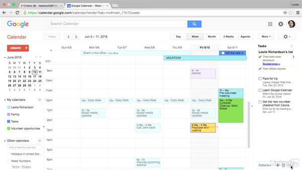 View task due dates on your calendar: Google Calendar Advanced Tips and Tricks