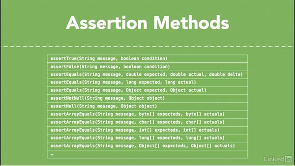 Assertions: Android SDK Unit Testing