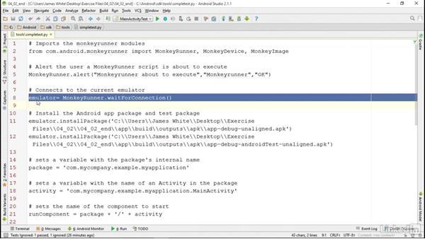 MonkeyRunner: Android SDK Unit Testing