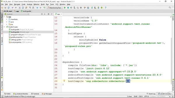 Alternate Android testing tools: Robolectric: Android SDK Unit Testing