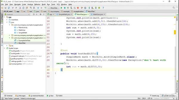 Mockito: Android SDK Unit Testing