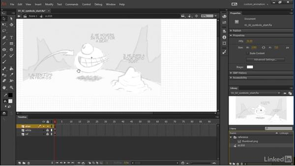 Creating symbols: Learn Adobe Animate CC: Animation