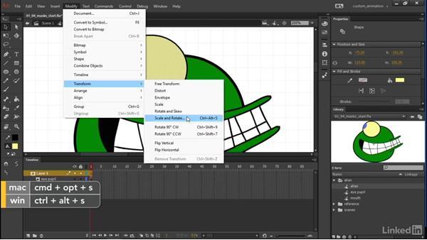 Masks: Learn Adobe Animate CC: Animation