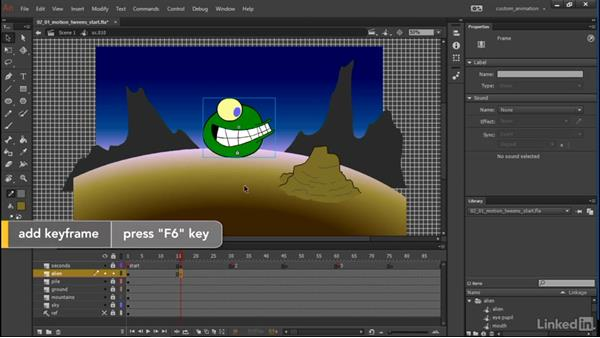 Motion tweens, classic: Learn Adobe Animate CC: Animation