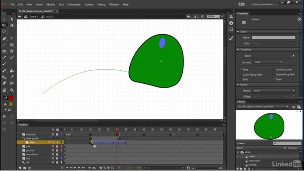 Shape tweens: Learn Adobe Animate CC: Animation
